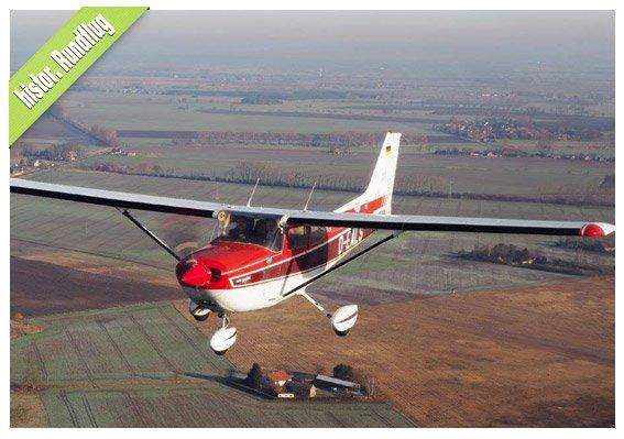 Historischer Flug Schlachtfeld Seelow