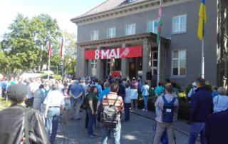 Viele Besucher am 8.Mai im Museum Karlshorst. Der Tag ist hier noch ein echter Feiertag.